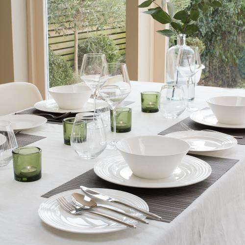 Harrogate Bone China Dinner Set with Cereal Bowls 12 Piece - 4 Settings