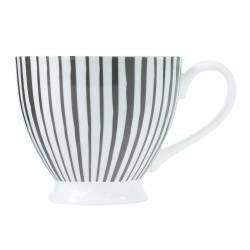 ProCook Footed Mug - Grey Stripes