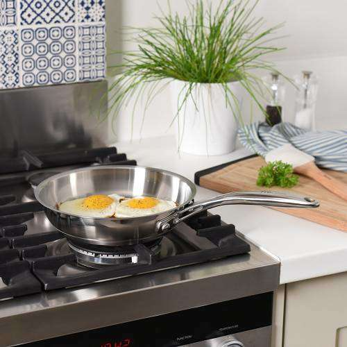 Professional Stainless Steel Frying Pan Uncoated 20cm