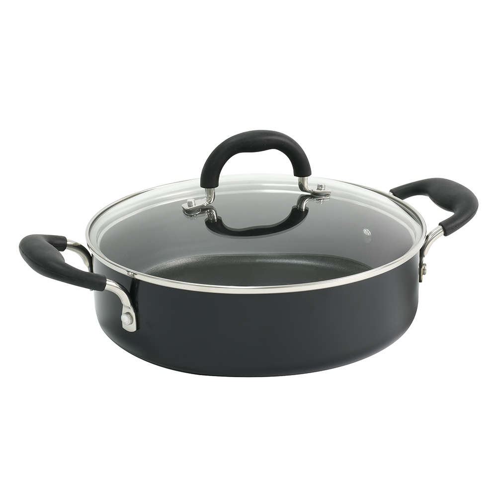 ProCook Professional Ceramic Induction Non-Stick Shallow Casserole With Lid 28cm