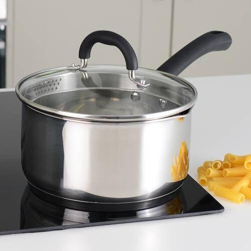Gourmet Stainless Steel Saucepan & Lid 20cm / 3.3L