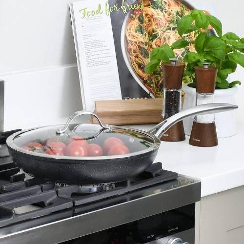 Professional Granite Frying Pan with Lid 28cm