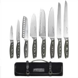 Elite Ice X50 Knife Set - 8 Piece and Canvas Knife Case
