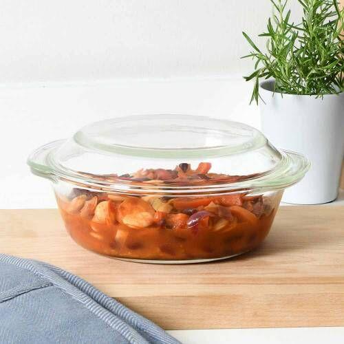 ProCook Glass Ovenware Casserole Dish 22cm / 2L