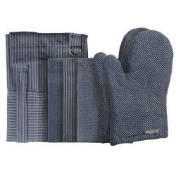 ProCook Kitchen Linen 4 Piece Set - Blue Grey