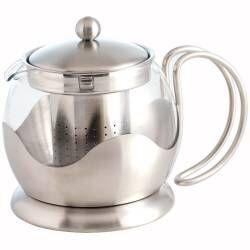 ProCook Satin Steel Teapot - 1.25 Litre