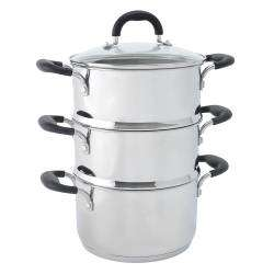 Gourmet Stainless Steel Steamer Set - 20cm / 2 tier