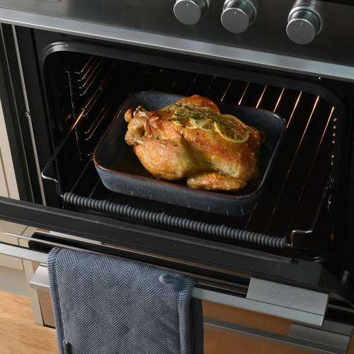 ProCook Stoneware Oven Dish 27cm x 21cm Reactive Blue
