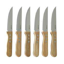 ProCook Steak Knife Set Acacia Handle - 6 Piece