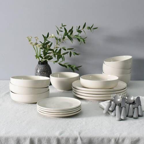 Stockholm Ivory Stoneware Dinner Set 16 Piece - 4 Settings