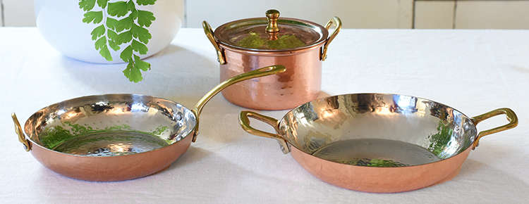 Hammered Copper Serveware