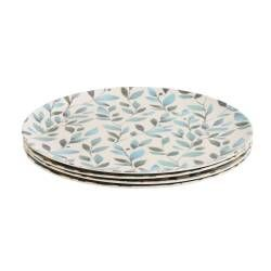 ProCook Bamboo Fibre Leaf Design Plates - Set of 4 - 25cm