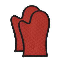 ProCook Silicone Oven Mitt Pair - Red