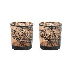 ProCook Etched Copper Tealight Holder Set of 2 - Tree Small