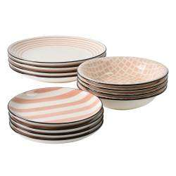 ProCook Polperro Stoneware Dinner Set - 12 Piece - 4 Settings