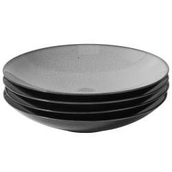 Del Mar Grey Porcelain Pasta Bowl - Set of 4 - 25cm