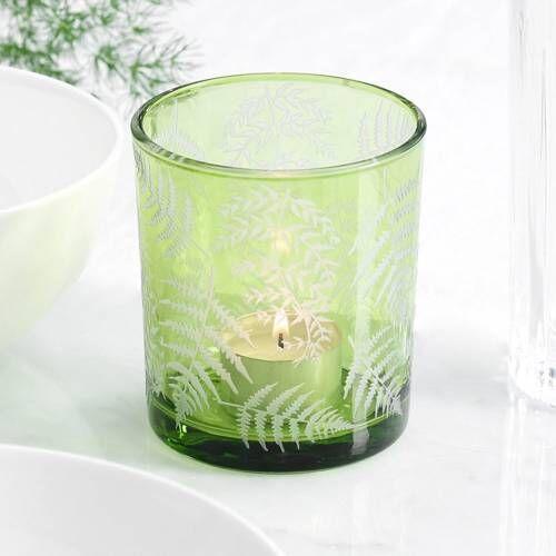 ProCook Green Fern Design Candle Holder Medium