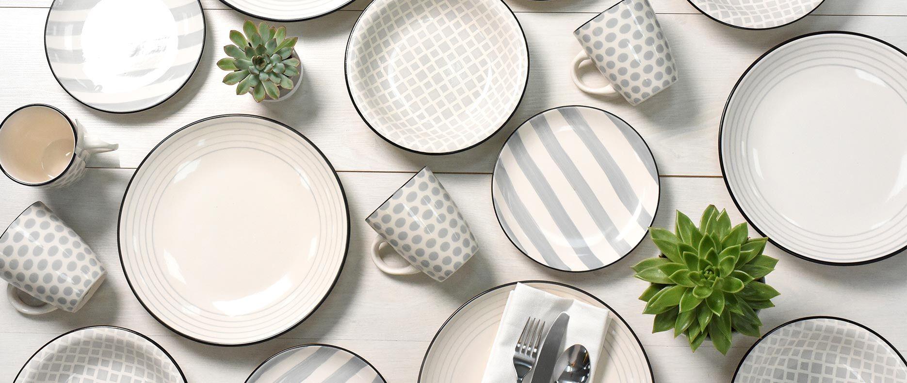 Salcombe Stoneware Set on dinning table
