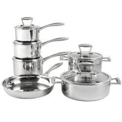 Elite Tri-ply Cookware Set - Uncoated 6 Piece