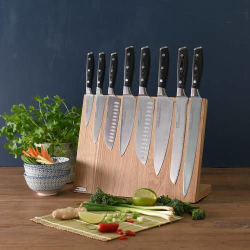 Professional X50 Knife Set 8 Piece and Magnetic Block