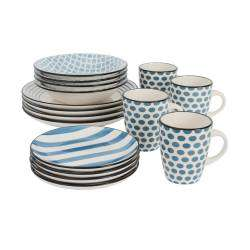 ProCook Dartmouth Stoneware Dinner Set - 16 Piece Set - 4 Settings