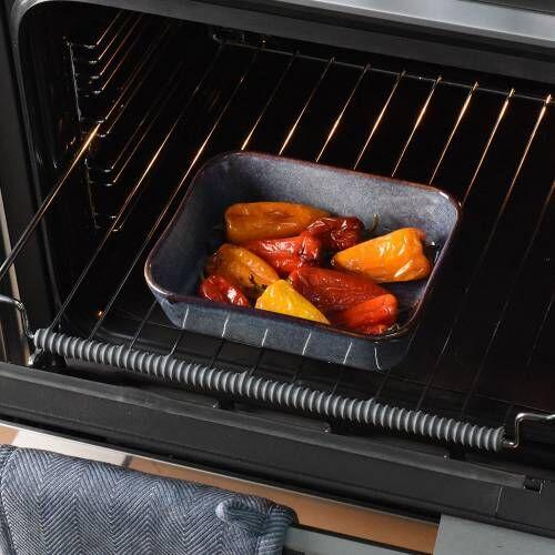 ProCook Stoneware Oven Dish 21cm x 17cm Reactive Blue