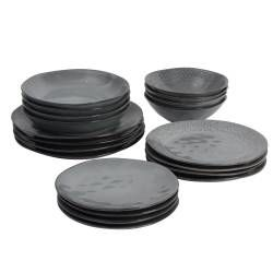 ProCook Malmo Charcoal Stoneware Dinner Set - 20 Piece - 4 Settings