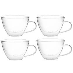 ProCook Double Walled Glass Teacup Set of 4 - 390ml