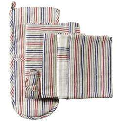 ProCook Kitchen Linen 3 Piece Set - Multi Stripe