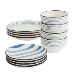 ProCook Dartmouth Stoneware Dinner Set - 12 Piece - 4 Settings
