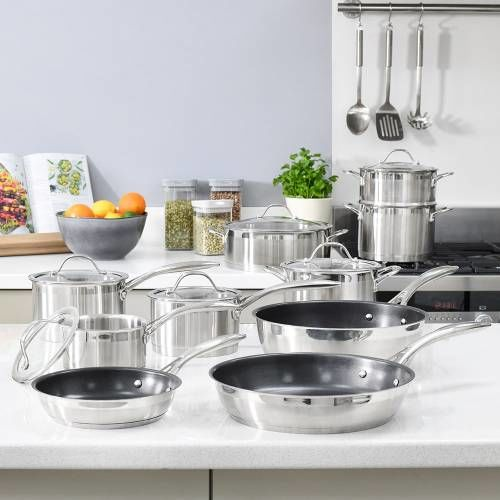 Professional Stainless Steel Cookware Set 10 Piece
