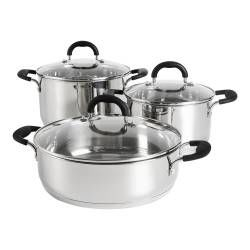 Gourmet Stainless Steel Casserole Set - 3 Piece