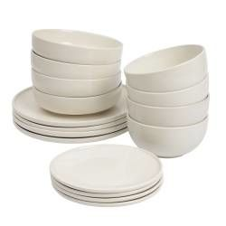ProCook Stockholm Ivory Stoneware Dinner Set - 16 Piece - 4 Settings