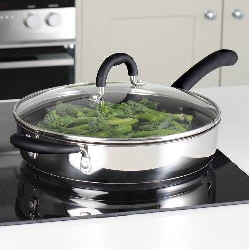 Gourmet Stainless Steel Saute Pan & Lid 28cm / 3.7L